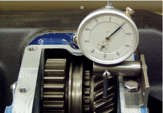 Example of a dial indicator in a PTO.