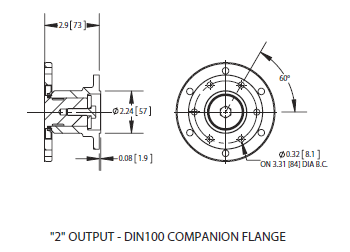 82 series power take off 2 output din100 comp flange ·